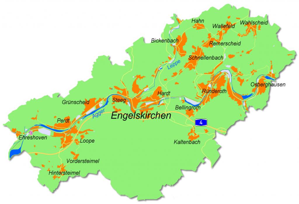Ortsteile Engelskirchen